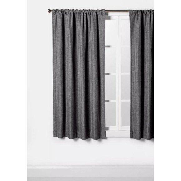 Lightblocking Curtain Panel 63″ L  x 42″ charcoal